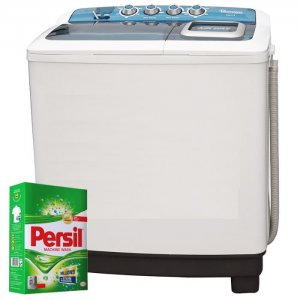 RAMTONS TWIN TUB SEMI AUTOMATIC 10KG/8.5KG WASHER + FREE PERSIL POWDER- RW/116 photo