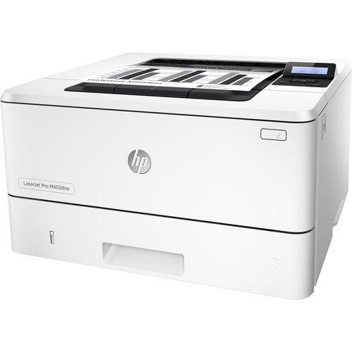 HP LaserJet Pro M402DNE Black & White Duplex Network Printer - White By HP