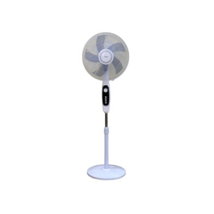 "MIKA Stand Fan, STYLISH, 16"", White & Silver photo"