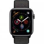 Apple Watch Series 4 (GPS Only, 44mm, Space Gray Aluminum, Black Sport Loop)  By Apple