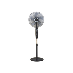 "MIKA Stand Fan, STYLISH, 16"", Black & Silver -  MFS1624/BS photo"