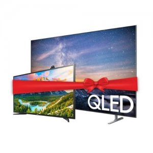 Samsung 65 inch QLED QA65Q80RAKXKE  TV, QPICTURE, QSTYLE, QSMART -2019 MODEL  and Get a Free Samsung UA43N5300 43-inch TV photo