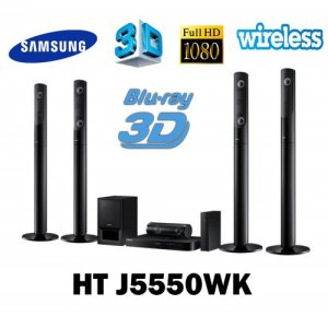 Samsung HT J5550WK Smart Bluetooth ,Free 5.1-Channel Home Theater Wireless Speaker System w/ Free HDMI Cable, 110-240 Volt photo