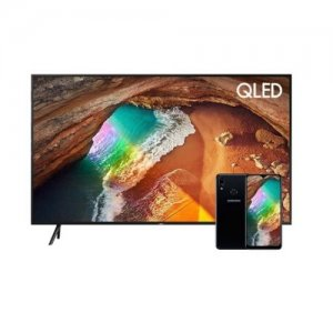Samsung 55 Inch 4K Ultra HD Smart QLED TV -QA55Q60RAKXKE + Free Samsung Galaxy Phone A10s photo
